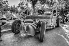 Custom Rat Rod. Picture taken in Daville Ca at the Cars and Coffee cars Show March 1st 2015 by Luigi Dionisio Stock Photography