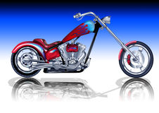 Custom Red Chopper Stock Image