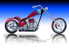 Custom Red Chopper Stock Image