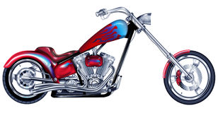 Custom Red Chopper Royalty Free Stock Photography