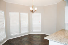 Custom remodeled dining area. With hardwood floors Stock Photo