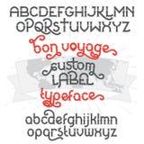 Custom retro typeface Bon Voyage Stock Photography