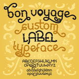 Custom retro typeface Bon Voyage Royalty Free Stock Images