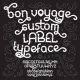 Custom retro typeface Bon Voyage Royalty Free Stock Images