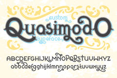 Custom retro typeface Quasimodo Stock Photography