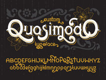 Custom retro typeface Quasimodo Royalty Free Stock Photo