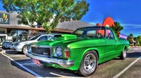 Custom 1970s Australian built Holden Kingswood ute. Custom built 1970s Australian green Holden Kingswood ute on display at car show in Melbourne, Australia Stock Photo
