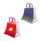 Custom Shopping Bag. High quality representation of Custom Shopping Bag. Contains grass and shopping cart textures. Fully customizable Royalty Free Stock Photography