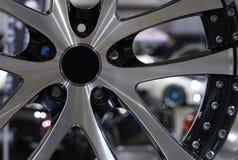 Custom Alloy Sport Wheel at Car Show Royalty Free Stock Photos
