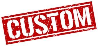 Custom square grunge stamp. Custom square grunge red stamp Royalty Free Stock Images