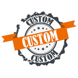 Custom stamp. Sign, seal ,logo isolated on white background Royalty Free Stock Photo