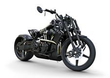 Free Custom Street Motorcycle With A Racy Modern Style. Stock Photos - 128787793