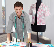 Custom tailor in studio Royalty Free Stock Photos