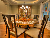 Custom Thanksgiving Dining Room Royalty Free Stock Image