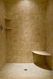 Custom Tiled Stand Up Shower Stock Images