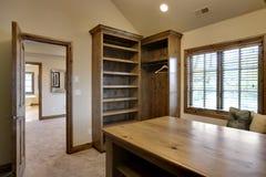 Custom Walk In Closet. With Custom Wood Work royalty free stock photo