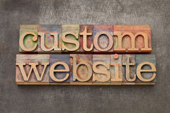 Custom website Stock Images
