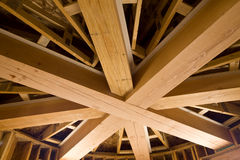 Custom Wooden Beams Royalty Free Stock Photography
