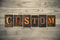 Custom Wooden Letterpress Theme Stock Images