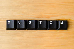 Custom word. With keyboard buttons Stock Photos