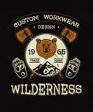 Custom work wear Wilderness. Royalty Free Stock Photo