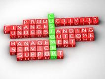 Customer 3D Crossword Stock Image