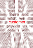 Customer. Concentrate on the customer relation, either as a sale strategy or for after sale strategy Stock Image