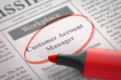Customer Account Manager Job Vacancy. 3D. Stock Image