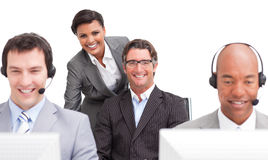 Customer agent team working in the office Royalty Free Stock Images