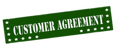 Customer agreement. Rubber stamp with text customer agreement inside,  illustration Stock Image