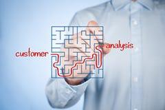 Customer analysis stock image