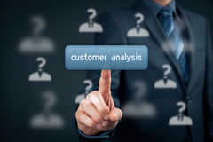 Customer analysis Stock Images