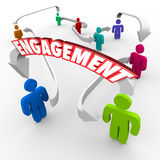 Customer Audience Engagement People Connected Arrows Royalty Free Stock Photography