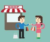 Customer behavior - shopping Stock Photos
