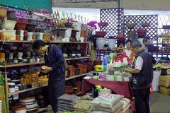 Customer buy gardening supplies Stock Image