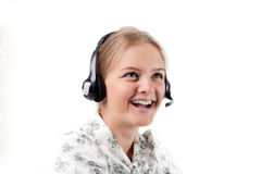 Customer care. Cheerful support. Customer Service Rep Stock Photography