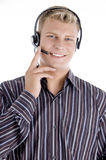 Customer care executive communicating Stock Photos