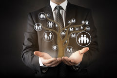 Customer care with family tree abstract concept Stock Image