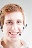 Customer care guy at your service Royalty Free Stock Photos