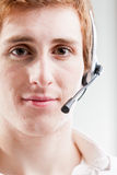 Customer care guy at your service Stock Photos