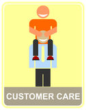 Customer care - icon Royalty Free Stock Photo