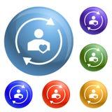 Customer care icons set vector stock illustration