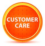 Customer Care Natural Orange Round Button royalty free illustration