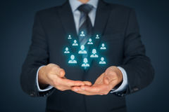 Customer care and management concept Stock Photo