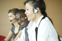 Customer care representatives Stock Image