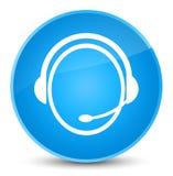 Customer care service icon elegant cyan blue round button. Customer care service icon isolated on elegant cyan blue round button abstract illustration Stock Photo