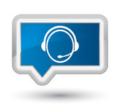 Customer care service icon prime blue banner button Royalty Free Stock Images