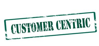 Customer centric. Rubber stamp with text customer centric inside,  illustration Royalty Free Stock Image