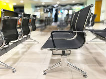 Customer chairs waiting for the bank employees in Thailand, queu Royalty Free Stock Photos