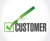 customer check mark list illustration Stock Image